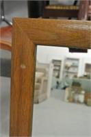 Modern Wooden Framed Wall Mirror