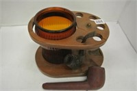 Retro Wooden Pipe Stand