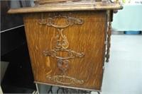 Antique Oak Singer Treadle Sewing Machine