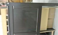 Modern Espresso Finish Queen Headboard