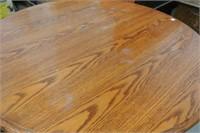 Circular Top Oak Dining Table