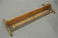Country Kitchen Hanging Coat Rack