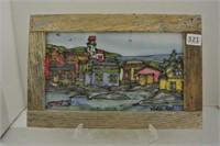 Artisan Fabric Block Framed Artwork