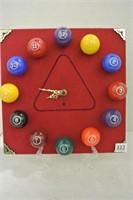 Pool Room Billiards Clock