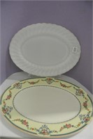 Milk Glass & Ironstone Platters