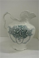 Late Victorian Semi Porcelain Water Jug (As Is)