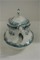Lidded Antique Blue/White Sugar Bowl