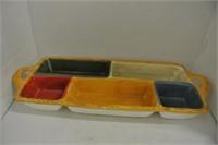 Glazed Pottery Vegetable Boat