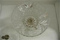 Rococo Pedestal Glass Top Compote