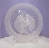 Deluxe Etched Glass Religious Plate