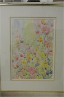 Decorative Framed Floral Still Life Print
