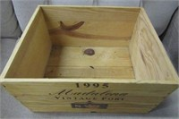 1995 Imported Liquor Wooden Box
