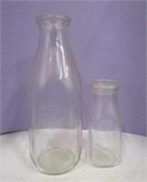 Clear Glass Milk & Cream Bottles
