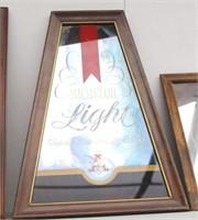 Three Vintage Mirror Beer Signs