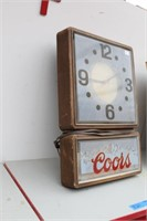 Coors Beer Clock Sign (runs but needs bulb)