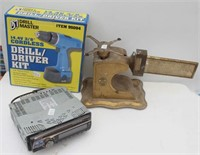 Vintager Scale, Drill Master Drill,  Car Radio