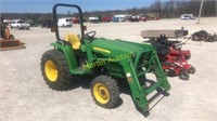 JD 3032E tractor w/  JD 305 loader +