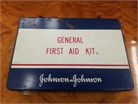 Johnson & Johnson vintage met. First aid kit box