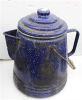Two Vintage Enamelware Coffee Pots