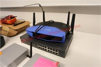 Linksys Router, TPlink Gigabit Switch, Google Rout