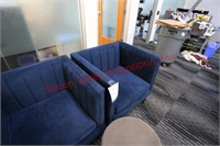 Suede Lounge Chairs and Stool