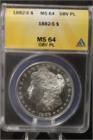 A96 PCGS Morgan's Silver Bars, Silver Coins and Jewelry