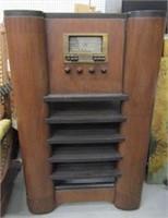 General Electric Floor Model Radio Cabinet