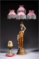 Several fine Royal Worcester multi-arm fairy lamps