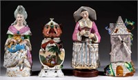 Many French porcelain tea warmers, some with lithophane panels