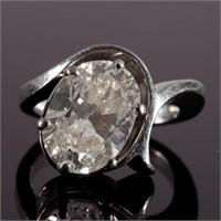 3.83 ct. diamond solitaire ring