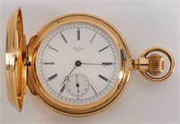 Fine James Piccard 18K pocket watch with presentation inscription and engraving