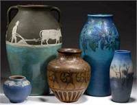 Good selection of American art pottery