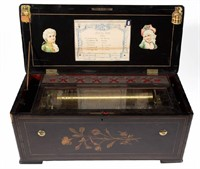 Bremond (Swiss) cylinder music box with bellows