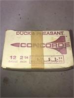 22 Rnds Concorde Duck & Pheasant 12ga