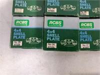 18 Rcbs 4x4 Shell Plates (no 2 Thru No 30)
