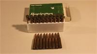 9 Rnds 6mm Remington & 19 Empty Brass