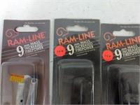3 Ram-line 9mm Mag (1 Chrome, 2 Black)