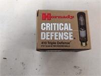20 Rnds Hornady Triple Defense Ftx 410 Slugs