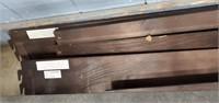 Approx Queen Size Metal & Wood Bed