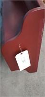 Red 2 Shelf  Wall Hanger