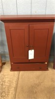 Red Wooden Wall Cabinet