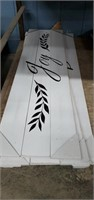 6 Wooden Decorative Signs