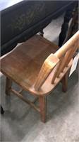 Black Fold Top Desk W/ Chair W/ Pear Design