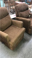 2 Brown Spin Recliners