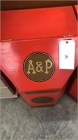 A & P Wooden Bin