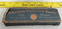 American Double Grit Emery Oil Stone W/ Box