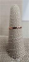 Sterling Silver Ring  W/topaz & Cz