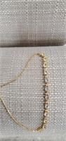 Sterling Silver Bracelet  W/ Topaz & CZ
