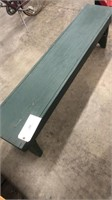 Green Wooden Bench