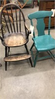 Turquoise Chair & Kid's High Chair